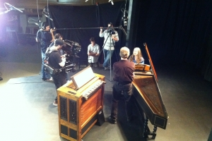 Behind the scenes of an educational audio/video recording with Tafelmusik.