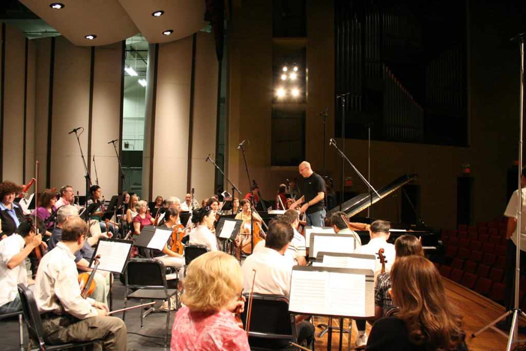 Recording the Bay Atlantic Symphony with Lee Pui Ming.
